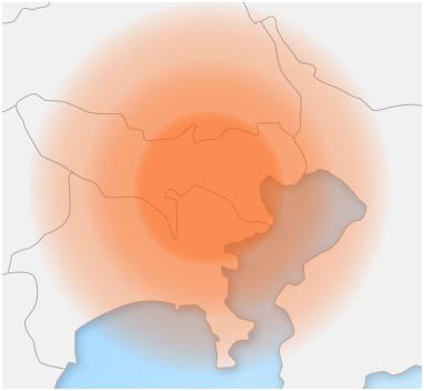対応エリア広域マップ